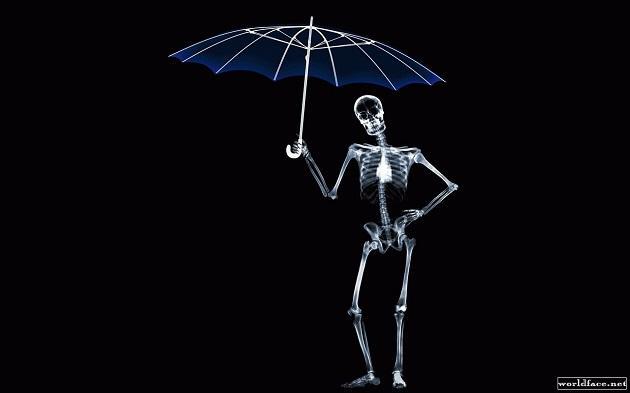 Рентген человек с зонтом