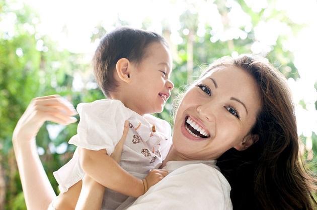 японка с малышом