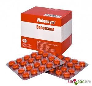 Вобэнзим – инструкция по применению в гинекологии, состав, показания к применению. Таблетки Вобэнзим – аналоги