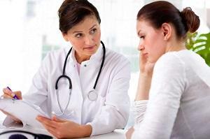 женщина у доктора