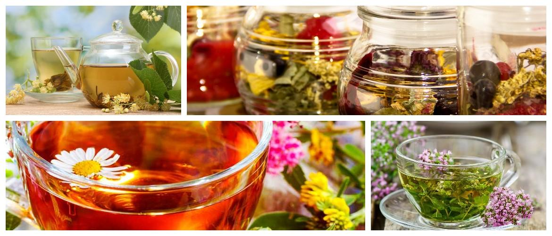 рекомендуется употребление травяных чаев